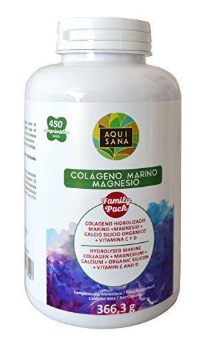 COLAGENO, COLAGENO MAGNESIO, 450 comprimidos, colageno hidrolizado y magnesio, calcio, sílice, vitamina C y D, colageno y magnesio, colageno propiedades beneficios, colageno marino comprimidos, colágeno. (450)