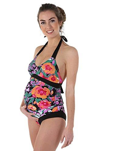 Petit Amour Umstands-Badeanzug Schwangerschafts-Swimwear Amaya ♥ Bademode für Schwangere Frauen ♥ Cup B/C/D schwarz ♥ Gr. L
