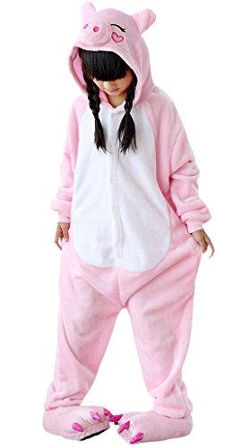 Imagen de dato niños ropa de dormir pijama cosplay disfraz cerdo rosa animal unisexo