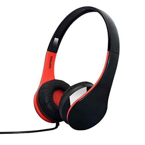 Y56 Gaming Kopfhörer für iPhone iPad Mac PC MP3 Portable Bass Surround Srereo Headsets Kopfhörer mit Mikrofon (Red)
