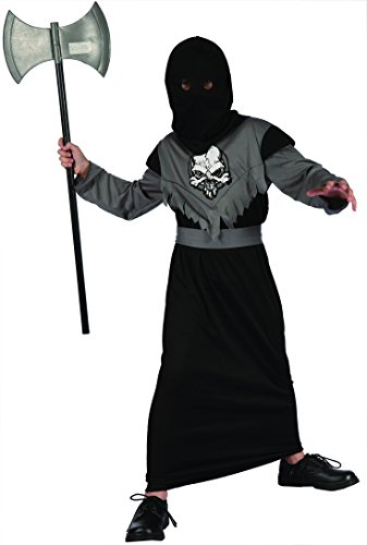 Kinder NEU in Halloween Fancy Kleid Horror Kostüm Skelett Knight Sensenmann oder Zombie Gefangene Kostüm mit Maske verschiedene Designs und Größen erhältlich
