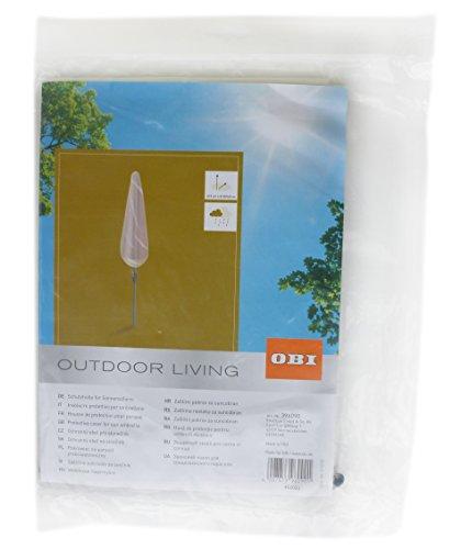 OBI Schutzhülle für Sonnenschirm transparent 215cm x Ø30/40cm Schirmhülle 396090