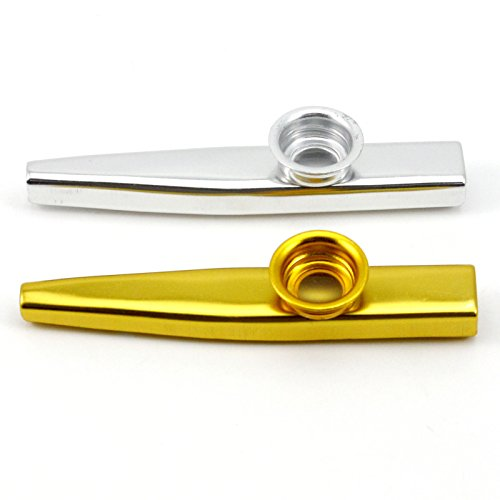 VANKER Kazoo flauta regalo del niño Instrumentos Musicales Aleación de aluminio de amantes de la música--plata