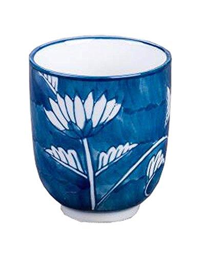 Black Temptation Lot DE 2 Style Japonais en Céramique Tasse de Thé Coupe Fleurs Peint à la Main [Chrysanthème] [D]