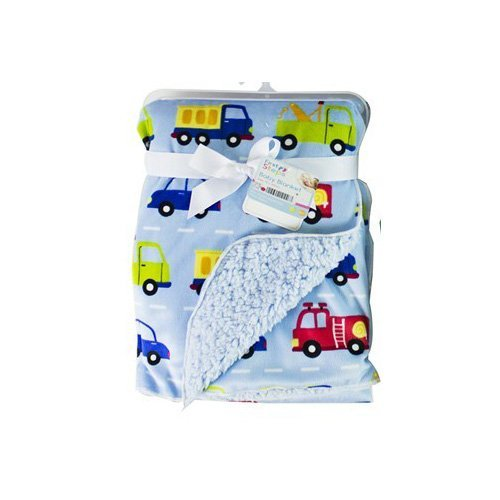baby-sherpa-mink-printed-pram-buggy-blanket-wrap-thick-blue-transport-by-hoolaroo