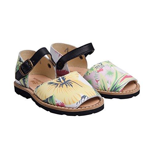Minorquines - Sandales Frailera Boucle Tropical - Enfant Multicolore