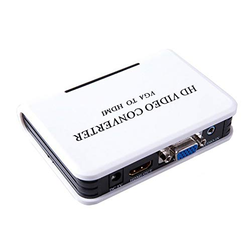 Sen-Sen VGA zu HDMI 1080P Full HD HDTV Video Konverter Adapter Box für Laptop PC schwarz EU Hdtv-konverter-boxen