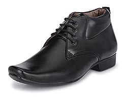John Karsun Mens Black Derby Shoes - 10 UK