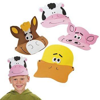 Tier Visiere-Fun Party Hüte ()