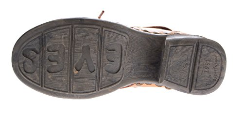 TMA , Chaussures de ville à lacets pour femme Camel-Braun