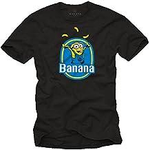 Camiseta Negra - Minion Banana