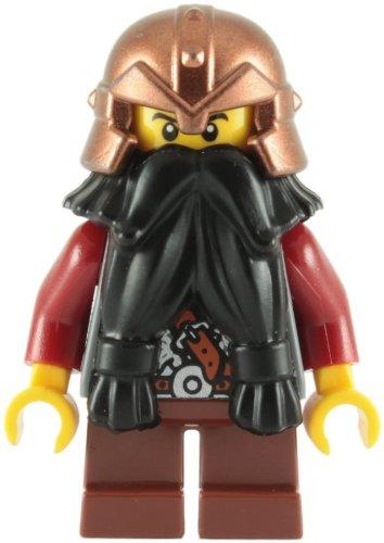 Zwergen-helm (LEGO Castle: Zwerg, Schwarz Bart, Copper Helm Mit Beschlagene Bands, Rot Waffen Minifiguren)