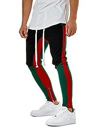 fe15936179c98 Pantalones Slim Fit Sport Fitness Entrenamiento Hip Hop Entrenamiento Pantalón  Casual Hombres Color Block –