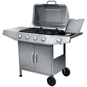 Broil-master - Barbecue à Gaz 4 + 1 Brûleurs Couvercle avec Thermomètre 128/97/53 cm (l/H/P)