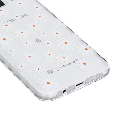 Hülle für iPhone 5s TPU Muster,TOCASO Ultra Slim Bunte Schutzhülle Silikon Gel Skin Transparent Bumper Rand Case Durchsichtig Rückschale Clear Cover Pattern Fall Handyhülle Weiche Ränder Etui Schale B Crystal Cover,#24
