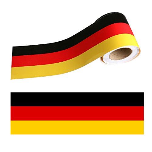 Auto Flag Aufkleber mit hohem Vinyl Racing Streifen Aufkleber Aufkleber für Auto Dekoration Kotflügel, Haube, Dach, Seite, Kofferraum, Skateboard Laptop Aufkleber fit für alle Autos