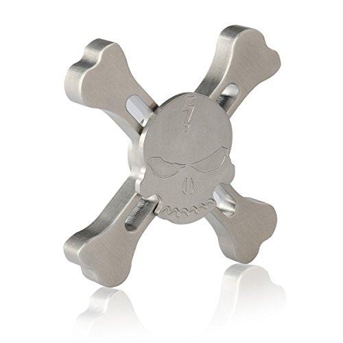 #MixMart Fidget Spinner Schädel Kopf Hand Spinner Angst Attention Toy Spielzeug – Perfekt für ADD, ADHD, Entlastet, Autismus und Entspannung für Kinder und Erwachsene#