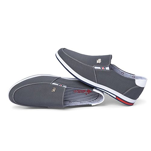 CHNHIRA Homme Mocassins Chaussures de Loisir Baskets Mode Chaussures Basses Respirant Gris