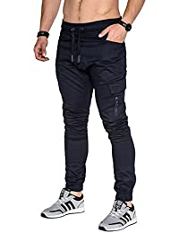 BetterStylz MasonBZ Zip Cargo Chino Jogger Jogginghose Harem Style Fitness Trainingshose in div. Farben (S-XXL)