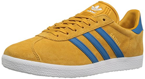 Adidas Mens Gazelle Suede Trainers Nomad Yellow Core Blue