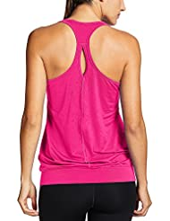 bc4687cafd SYROKAN - Camiseta de Fitness Deportiva de Tirantes para Mujer