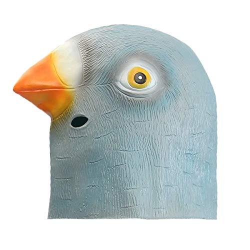 (Ungfu Mall Taube Kopf Maske Creepy Animal Halloween-Kostüm Theater Prop Latex Party Spielzeug)