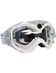 Liquid Image Masque de 384 W All Sports HD pour Moto/Ski/snowboard avec l'appareil photo-caméscope HD 720p et Incorporated Blanc
