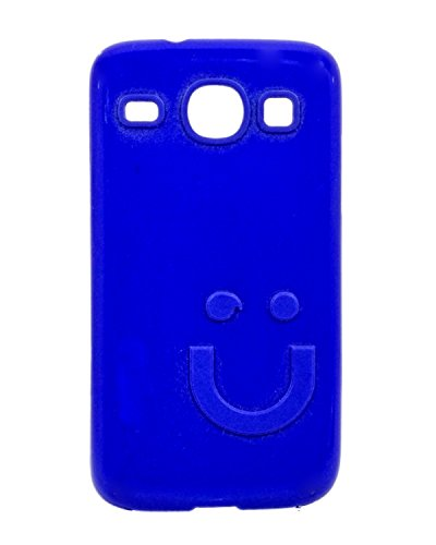 iCandy™ Imported Quality Soft TPU Smiley Back Cover For Samsung Galaxy Core I8260 / I8262 - Blue  available at amazon for Rs.109