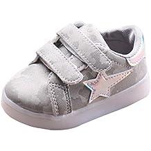 Zapatos para bebé, K-youth® invierno La zapatilla de deporte antideslizante LED otoño suave zapatos bebes chica deportivos niña casual Zapatillas Para 1-3.5años