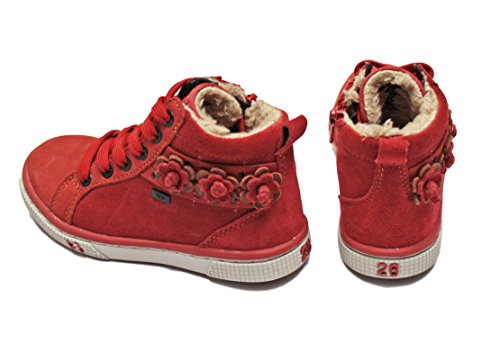 Rendas Tornozelo Sneaker Holly Vermelho Vado Tex Muito Inicialização Até Poppy EHTg6qw