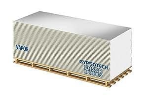 Lastra di cartongesso anticondensa FASSA VAPOR spessore 13 mm dimensioni 120x300 cm (mq.3,60 per lastra) con lamina di alluminio