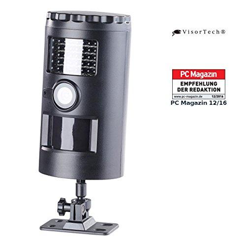 VisorTech Türüberwachung: HD-Überwachungskamera, Nachtsicht, 110°, 12 Monate Laufzeit, SD, IP66 (Bewegungsmelder mit Kamera)