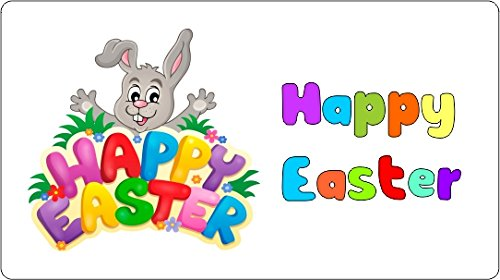 Goorisproprint the best amazon price in savemoney 40x happy easter stickers labels for cakes sweets gift bags party bags negle Image collections