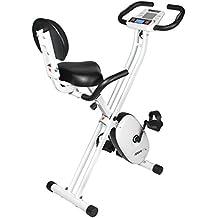 SportPlus SP-HT-1004-iE Bicicleta Estática Plegable con Control de Aplicaciones, Google Street View, Sillín Confortable, Manillar, 8-24 Niveles de ...