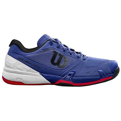 WILSON Rush PRO 2.5 Clay, Scarpe da Tennis Uomo, Blu (Mazarine Blue/White/Neon Red 000), 45 1/3 EU
