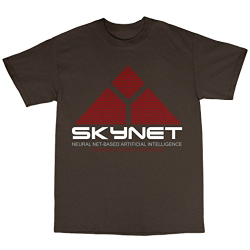 Skynet T-Shirt 100% Baumwolle Zartbitter-Schokolade