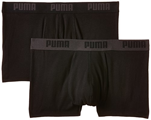 Puma Herren Bodywear Basic Shortboxer 2P, Black, S, 521025001 (Italienische Unterwäsche Männer)