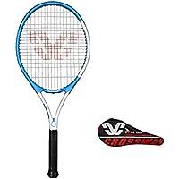 YFDD Raqueta de Tenis Solo Conjunto de la Raqueta, la Raqueta de Tenis for Adultos con Tapa Hombres Mujeres aijia (Color : Blue)