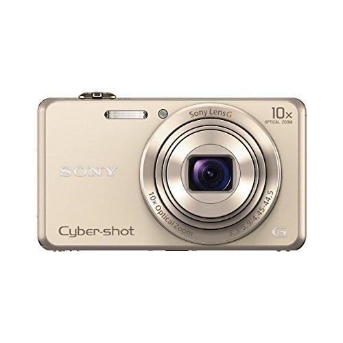 dsc wx 500 Sony DSC-WX220 Digitalkamera (18 Megapixel, 10-fach opt. Zoom, 6,8 cm (2,7 Zoll) LCD-Display, NFC, WiFi) gold