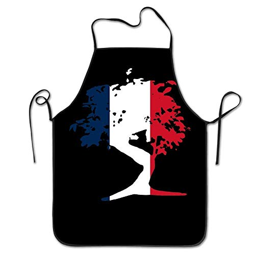 GDESFR Apron with Pock,Japanese Bonsai Tree French Unisex Kitchen Bib Apron Supermarket Overalls Manicure Store with Adjustable Neck Chef's Apron 28.3'x20.5'
