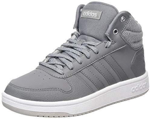 adidas Damen Hoops 2.0 Mid Gymnastikschuhe, Grau (Grey F17/Grey Three F17/Ftwr White), 38 2/3 EU