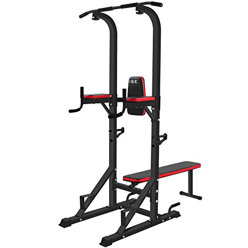 ISE Power Tower Multifunzionale Workout Dip Bar Pull UP Bar con Panca Barra Trazioni Stazione di...