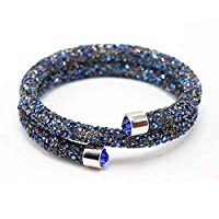 SWAROVSKI Elements Bracelets Bangles Magnetic Crystals Double Wrap Bracelet