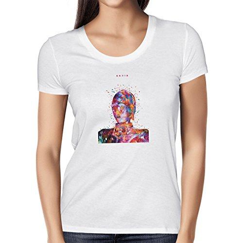 NERDO - Colour Droid - Damen T-Shirt Weiß
