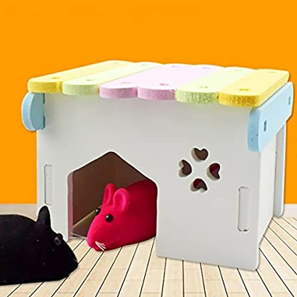 B Blesiya Colorful Hamsters Hideout House Climbing Hut Pet Bedding Cage Teeth Caring 4