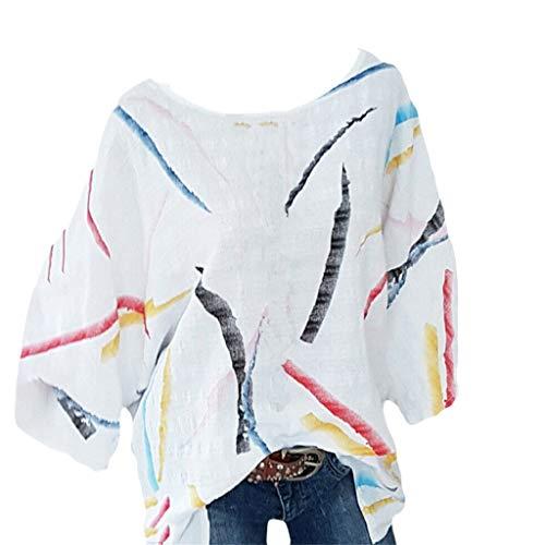 Ärmel Plissee Bluse (Hanomes Damen Einfarbig Top Damen Plissee-Bluse Lange Ärmel Rundhals Freizeit Tops Damenbekleidung Sale OberteileDamen Baumwolle Leinen T Shirt)