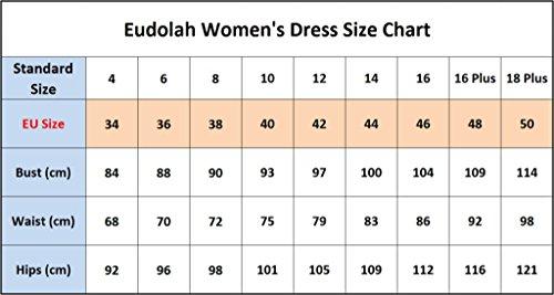 Eudolah Robe de soirée longue en tulle pailleté avec broderies en feuilles demoiselle d'honneur Femme Bleu Saphir