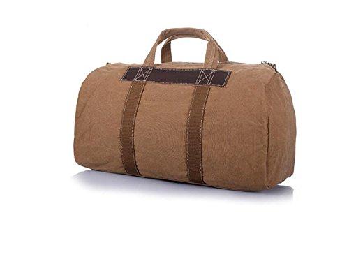 DJB/Canvas Taschen Freizeit Taschen Sport Duffel Bag Umhängetasche Große Kapazität Tasche Khaki