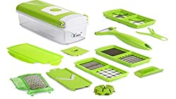Dealcrox One Step Vegetable Fruit Cutter Chopper Slicer Plus - 12 in 1