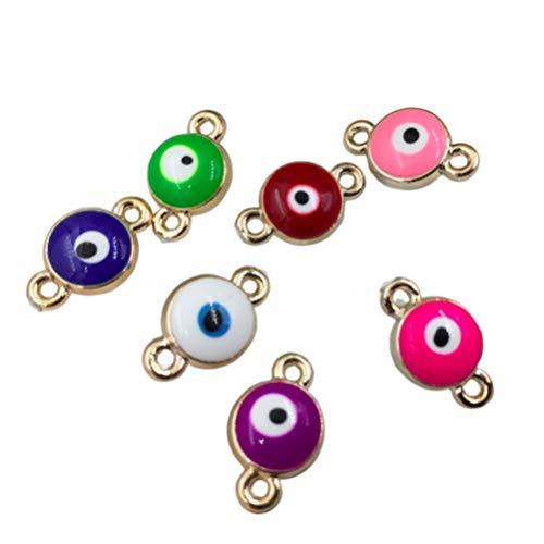Kostüm Armbänder Charme - Healifty 50 stücke Charme stecker bösen Augen Armband anhänger für DIY Halskette Armband Handwerk schmuck ergebnisse Machen mischfarbe